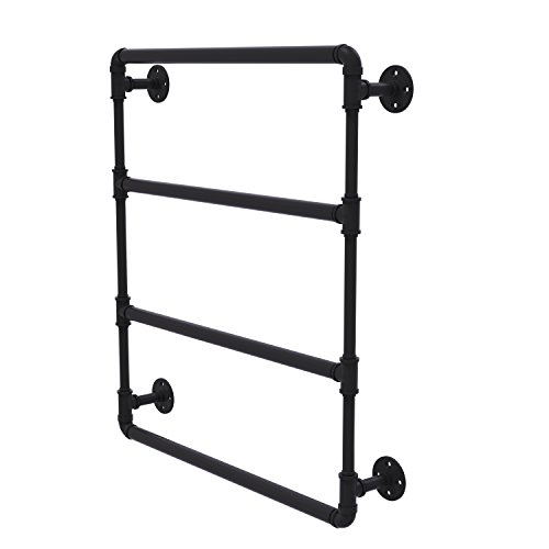 - Allied Brass P-280-24-LTB-BKM Pipeline Collection 24 Inch Wall Mounted Ladder Towel Bar, 24