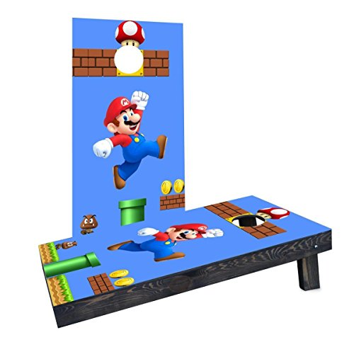 (Custom Cornhole Boards CCB1483-C Super Mario Brother - Mario Cornhole Boards)