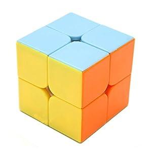 HJXD Magic Cube Set 4 Pack 2x2x2 3x3x3 4x4x4 5x5x5 Stickerless Speed Cube Pink