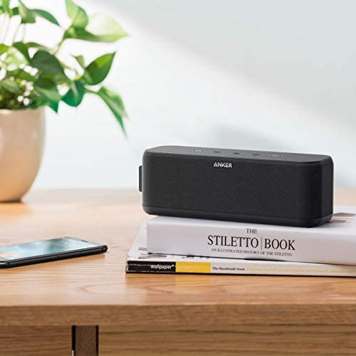 Portable Speakers, Anker Soundcore Boost 20W Bluetooth Speaker with BassUp Technology, 12H Playtime, IPX5 Water-Resistant, Wireless Speaker with Superior Sound & Bass for iPhone, Samsung and More 412HtQ48jlL