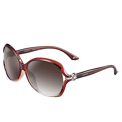 Sol Gafas Espejo KHIAD conducción Femeninas Oval de Gafas polarizador qZw14gzf