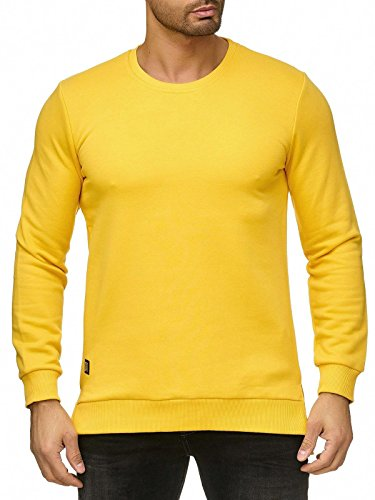 Sweater Premium Oversized Redbridge Base De Pull Hommes Casual Sweatshirt Jaune EAqntwTW8n
