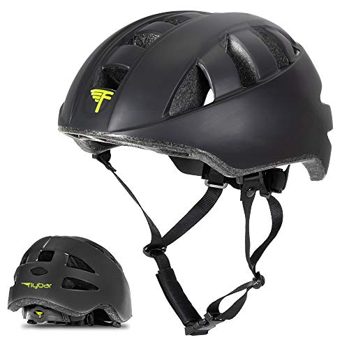 Flybar Junior Helmets for Kids (Black, Large)