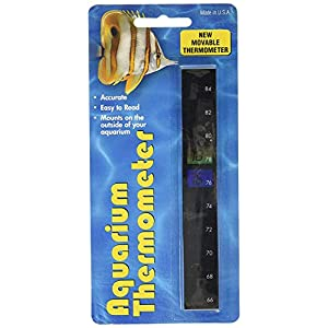 LCR Hallcrest A-1005 Liquid Crystal Vertical Aquarium Thermometer 1