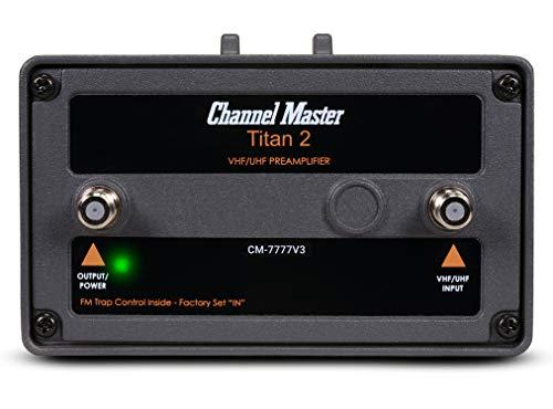 Channel Master CM-7777V3 Titan 2 High Gain TV Antenna Preamplifier [Version 3]