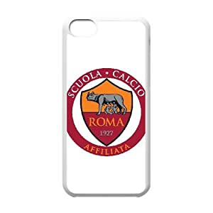 As Roma Logo For iPhone 5C Cell Phone Case White BTY650214