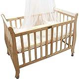 L'Elefante Baby Bed with Wheels, Bige, Beige