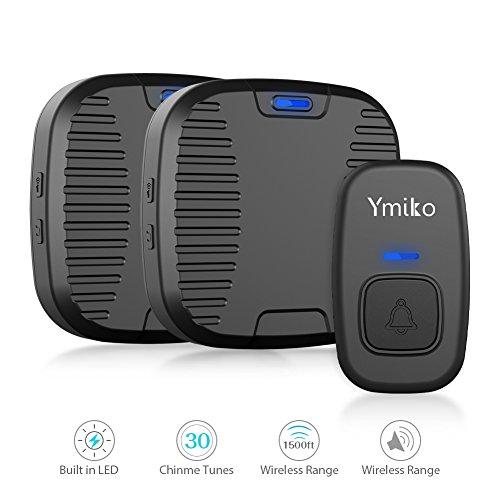 Wireless Doorbell, Ymiko 1500ft 100% Waterproof...