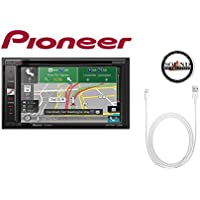 Pioneer AVIC-5201NEX In Dash Navigation A/V Receiver 6.2 WVGA Touchscreen Display with a Lightening to USB Adapter and a FREE SOTS Air Freshener Package