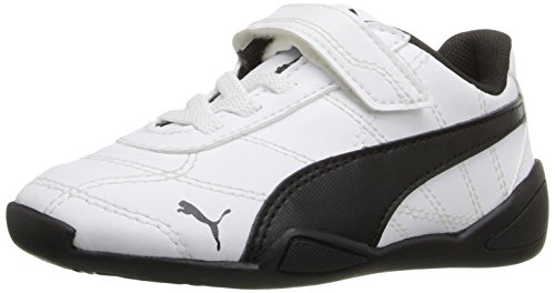 PUMA Boys' Tune CAT 3 V INF Sneaker, White Black, 10 M US Toddler