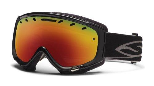 Smith Optics Phenom Goggle (Black Frame, Red Sol X Mirror Lens), Outdoor Stuffs