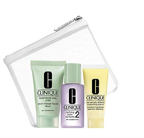 Clinique Skincare 3 Piece Travel Set Normal to Dry ()