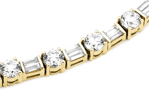 Amazon IGI Certified 14k Yellow Gold Baguette and Round Cut