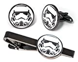 Stormtrooper Tie Clip, Star Wars Cufflinks, Jedi Tie Tack Jewelry, Darth Vader Cuff Links, Kylo Darth Maul Death Star Gift, Star Wars Captain Phasma Wedding Party Groomsman Gifts