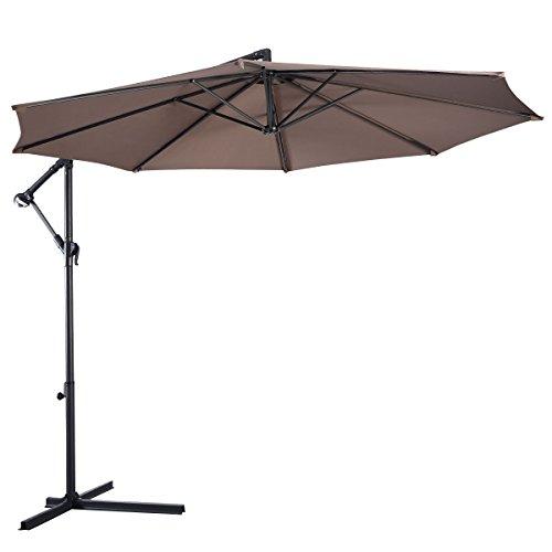 new-10-ft-hanging-umbrella-patio-sun-shade-offset-outdoor-market-w-cross-base-tan