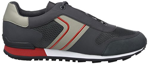 BOSS Athleisure Herren Parkour_Runn_Tech Sneaker Grau (Dark Grey)