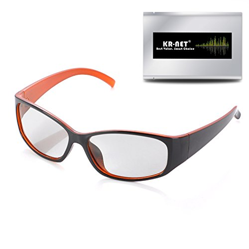 3d Stereoscopic Video - RealD Passive 3D Glasses Casual Style for Polarized Cinema Movie/Home TV (Black/Orange)