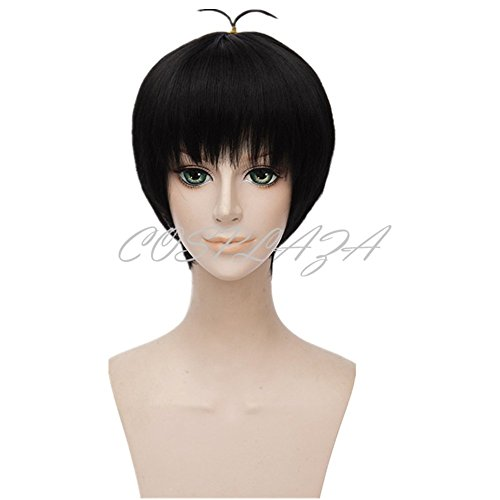 COSPLAZA Black Short Boy Cosplay Wigs Halloween Fashion Hair