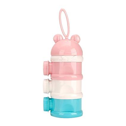YEAHIBABY 3 capas de leche en polvo en polvo Dispensador de alimentación para bebés Contenedor de