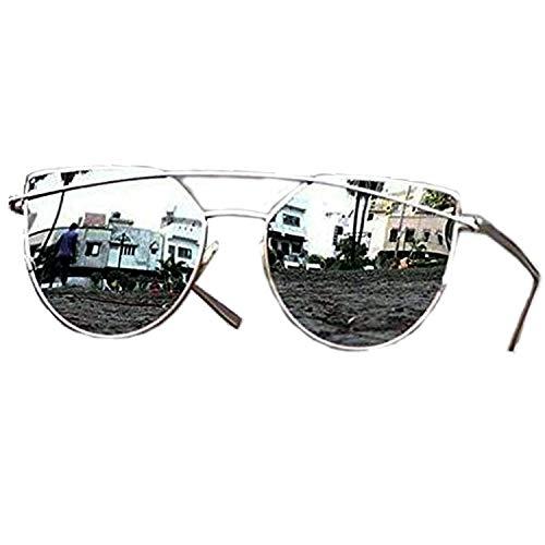 6c6b8d75214 Younky Unisex UV Protected Cateye Stylish Silver Mercury Sunglasses For Men  Women Boys   Girls (DRSSM