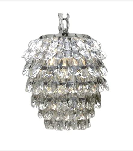 Crystal Chandelier 1 Light Pendant Lighting Fixture