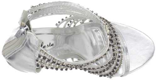 Celeste Womens Alude-03 Sandalo Argento Metallizzato