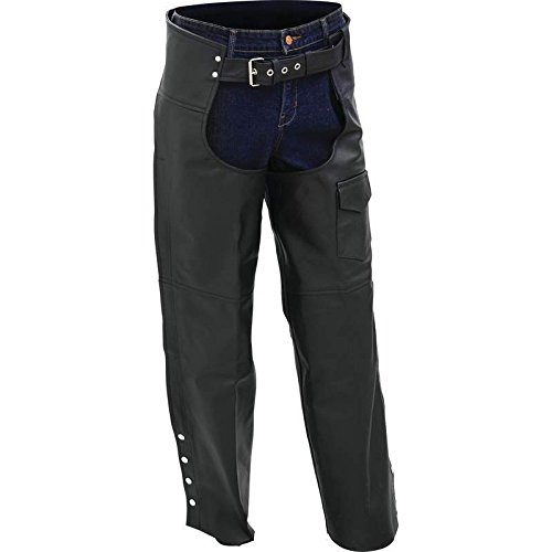 BNFUSA BKCHPSLBXL Rocky Mountain Hides Buffalo Leather Motorcycle Chaps - XL (Hides Leather Chap)