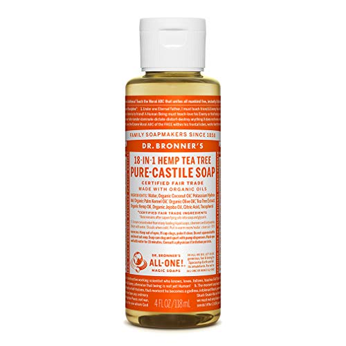 Dr. Bronner Tea Tree Pure-Castile Soap - 4 Fluid Ounces