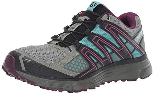 (Salomon Women's X-MISSION 3 W Athletic Shoe, shadow/dark purple/nile blue, 6 Standard US Width US)