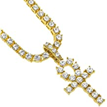 Clearance Sale!! WYTong Hip Hop Style Rhinestone Key Cross Pendant Jewelry Crystal Necklace for Men Women