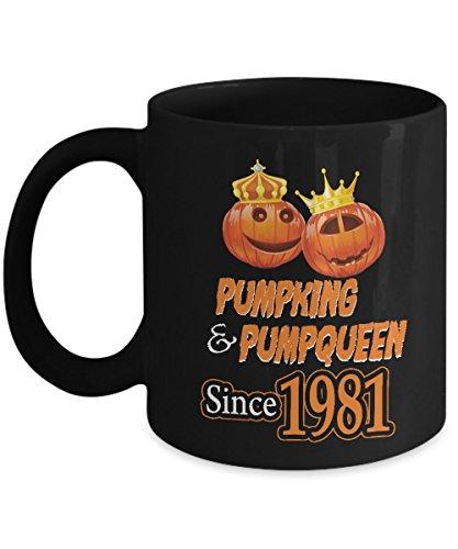 (Pumpkin Coffee Mug For Halloween. Funny Couple Gifts For Wedding Anniversary Since)