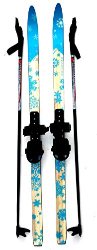 Sporten Second Step Beginner Kids Junior Cross Country Skis 120cm Adjustable Universal Bindings Poles by sporten