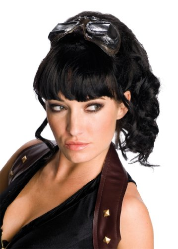 Rubie's Sucker Punch Gathered Mid-Length Wig, Black, One -
