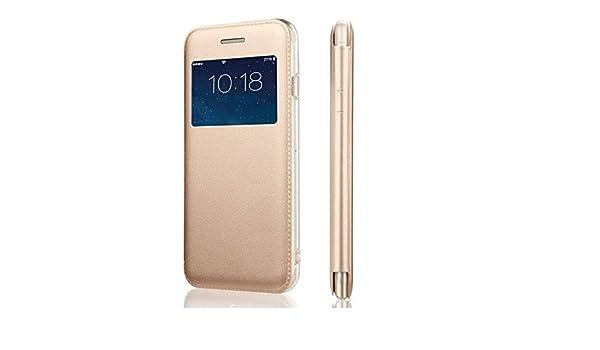 846ea2e753a Funda de bolsillo con ventana, color dorado-Funda para Samsung Galaxy Grand  Prime-Contorno interno silicona irrompible: Amazon.es: Electrónica
