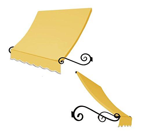 Awntech 3-Feet Charleston Window/Entry Awning, 44 by 24-Inch, Light Yellow