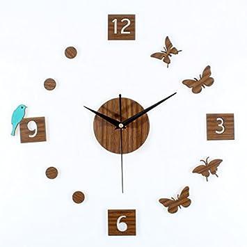 Ling @ Relojes Stille Madera, para los antiguos Retro de jardín pájaros mariposa DIY del