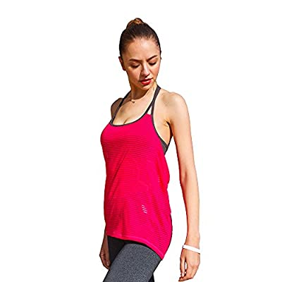 ONGASOFT Yoga Tank Top for Womens Activewear Workout Tank Tops with Built in Bra