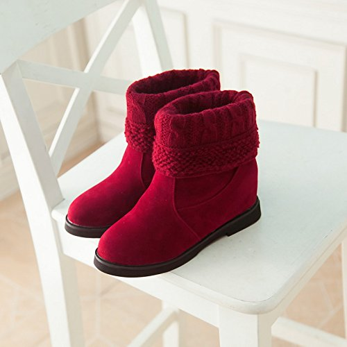 hexiajia Botas mujer Red
