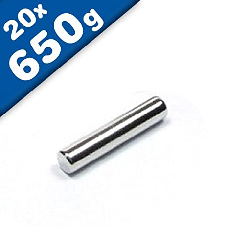 10x POWER NEODYM STAB MAGNET 7 x 20 mm N45 EXPERIMENT PINNWAND STARK