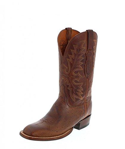 D Lucchese weite Homme Brown Bottes Et Bottines Dark Cowboy ZaRSZz