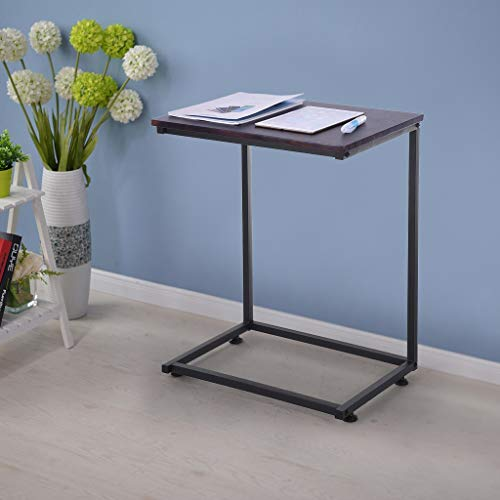 Nesee Sofa Side End Table, C Shaped Table Laptop Holder, End Stand Desk Coffee Tray Side Table, Notebook Tablet Beside Bed Sofa Portable Workstation, Over