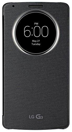 LG Flip Cover CCF 340 - Funda para móvil LG G3, negro