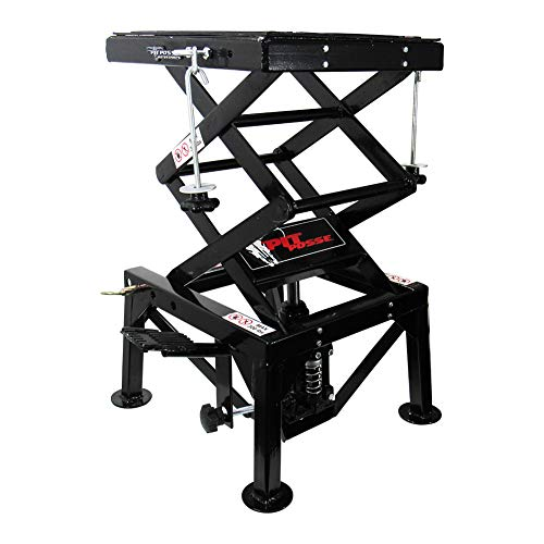 Pit Posse Motorcycle ATV Scissor Floor Jack Lift Table Stand - 13 inches Thru 36-inch-High – Stable – Safe – Comfortable – 2 Years Warranty