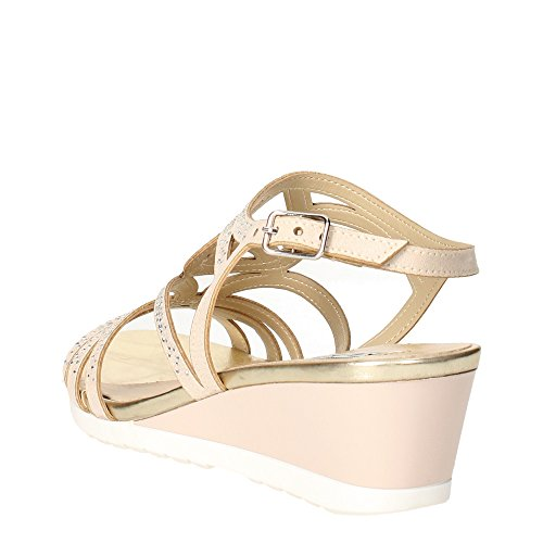 diamantes color de de CLAVES pulsera Beige mujer 5436 zeppetta topo imitación sandalia zapatos pEwqvnwzxt