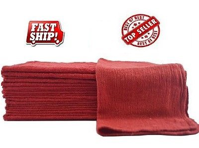 Amazon com: GT 500 Industrial Shop Rags/Cleaning Towels RED: Home