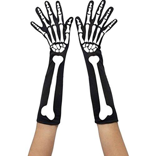 Skeleton Costumes Panty Hose (Qiaonai Halloween Skeleton Pantyhose Bone Cuff Gloves (2))