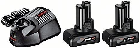 BOSCH 1600Z00046 - Conjunto batería Power Set 12 V 4,0 Ah. con 2 Baterías de 4,0 Ah. Cargador AL 1130 CV. Caja de cartón.