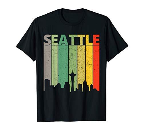 (Seattle Shirt | 80's Vintage Retro Seattle Skyline T-Shirt)