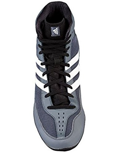 Adidas Mat Wizard David Taylor Edition Wrestling Shoes, Grey-Black-White, (Mens) 10 B(M) US by adidas