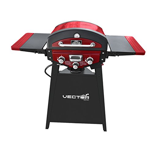 Smoke Hollow VT280RDS-VTS Table Top Grill, Red with Black Stand